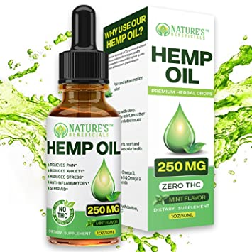 Organic Hemp Oil Extract Drops for Pain Relief, Sleep Aid, Anxiety Relief,  Stress Relief That's