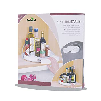 11u0026quot; Lazy Susan Turntable Spice Organizer With Slide Out Shelve U2013 For  Kitchen Pantry,