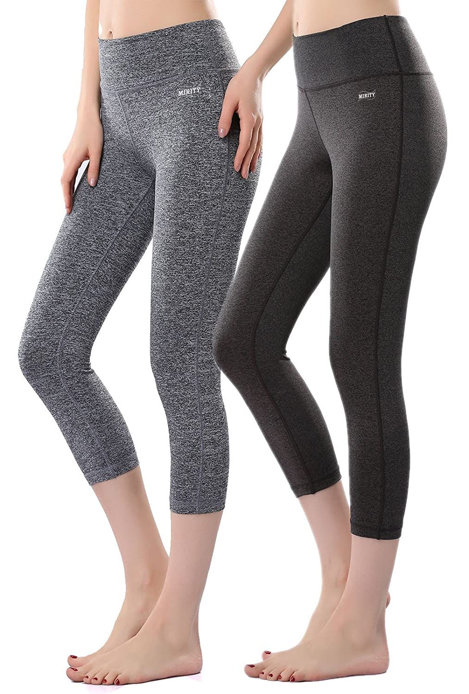 ab6c291c3c MIRITY Women's Tight Yoga Pants Spandex Workout Gym Activewear Capris  Yogapants
