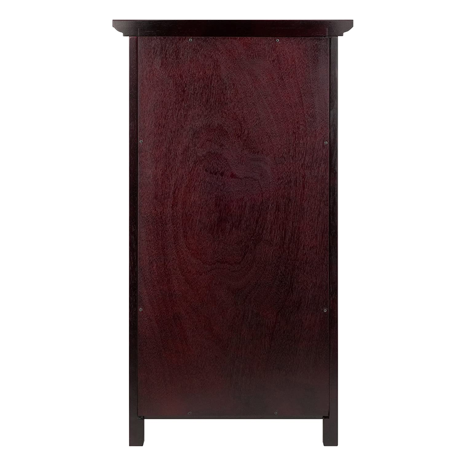 Amazoncom Winsome Wood Wine Cabinet With French Doors, Espresso Kitchen
