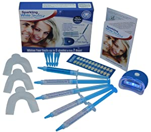 Premium Teeth Whitening System - Teeth Whitening Kit - Fast Results - Professional Grade - Whiter and Brighter Teeth - Easy to Use At Home - All Inclusive Complete Teeth Whitening Package