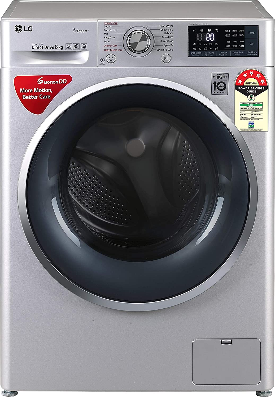 LG 8 kg 5 Star Inverter Wi-Fi Fully-Automatic Front Loading Washing Machine