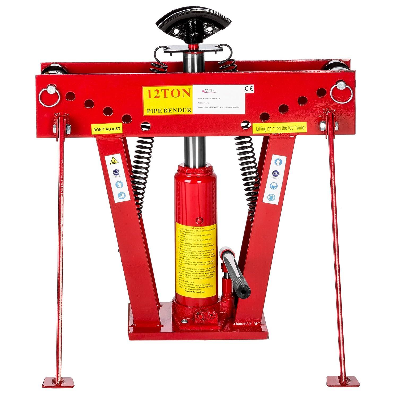 TecTake Máquina curvadora hidráulica para tubos 12 toneladas + 6 matrices differentes 43 kg: Amazon.es: Bricolaje y herramientas