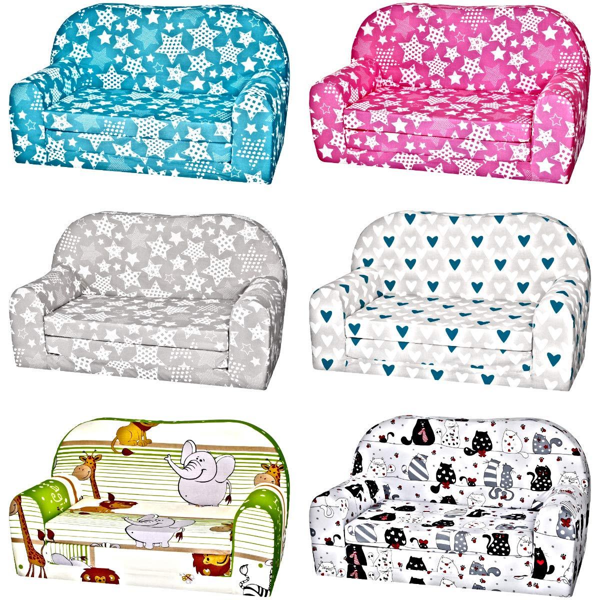 Kindersofa Kindersessel Minisofa Klappsofa Kindercouch Baumwolle Modell 1