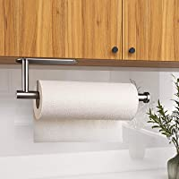Oxdigi Paper Towel Holder, Adhesive Under Cabinet Wall Mount for Kitchen Bathroom, No Drilling SUS304 Stainless Steel…