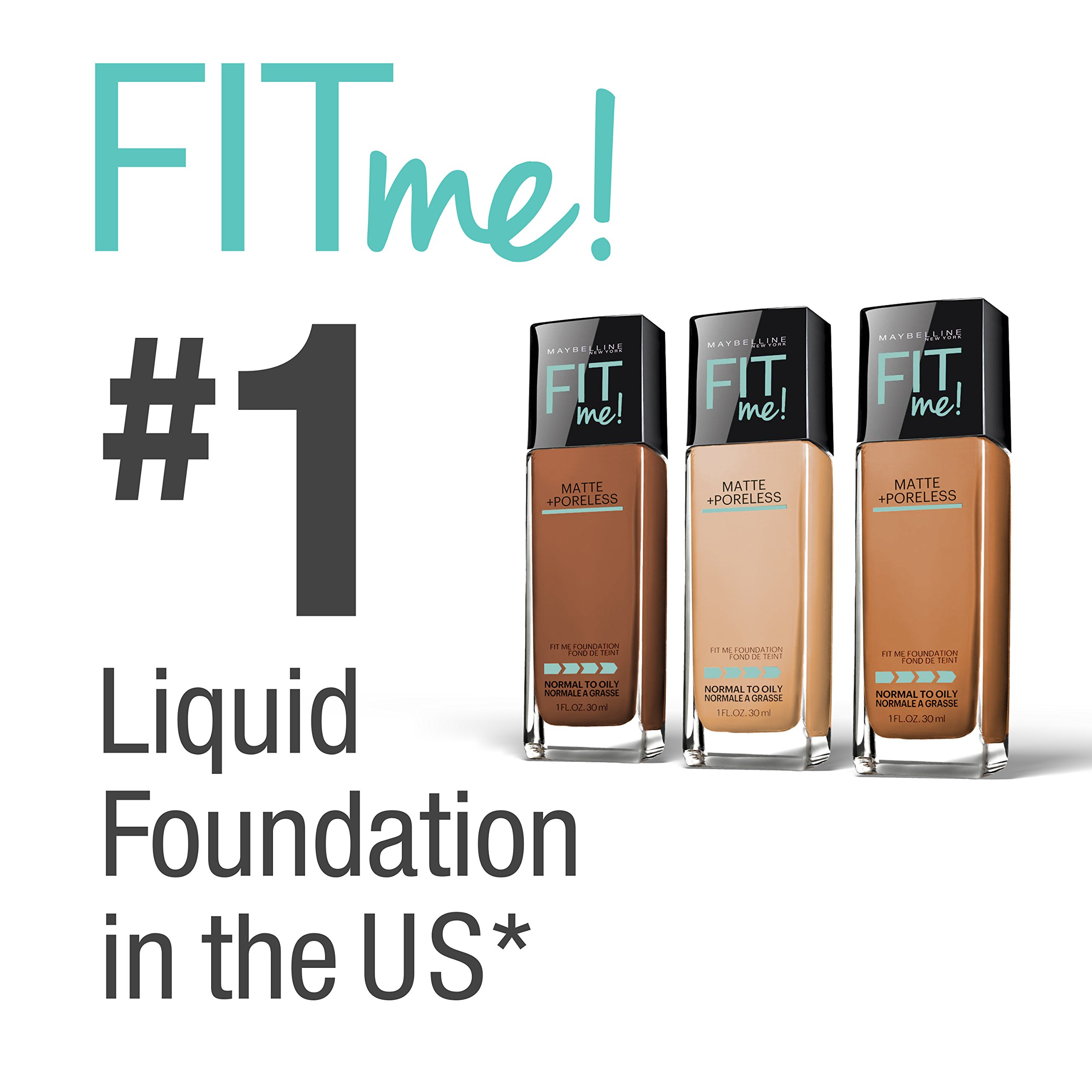 Maybelline New York Fit Me Matte + Poreless Liquid Foundation Makeup, Natural Ivory, 2 Count by Maybelline New York (Image #6)