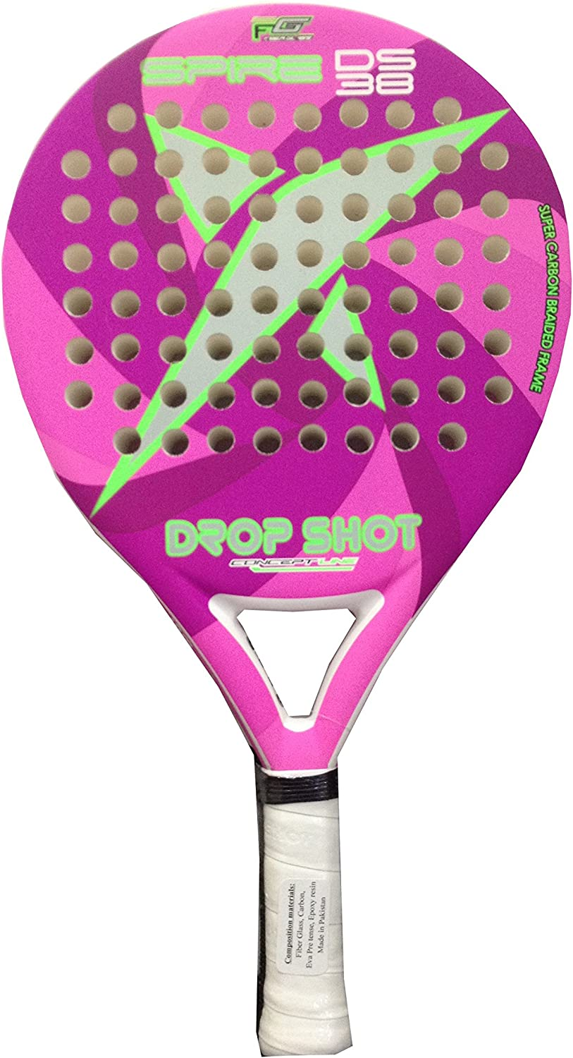 DROP SHOT Spire SF - Pala de pádel, Color Rosa, 38 mm: Amazon.es ...