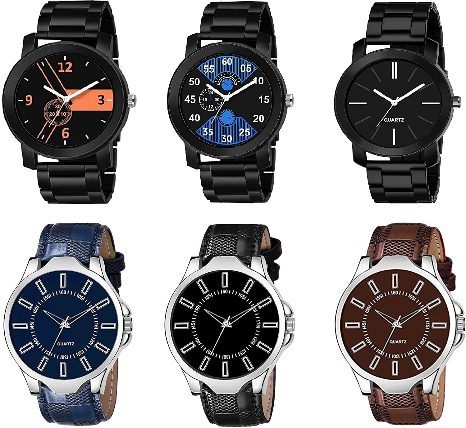 RPS FASHION WITH DEVICE OF R Analog Display Attractive Multicolor Dial Watch Combo 6