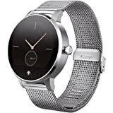 Tiger D230006 Smart-Uhr Rome (3,1 cm (1,22 Zoll), IPS Touchscreen, Bluetooth mit Edelstahlarmband) Silber
