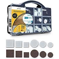 goodspot® Viltglijders zelfklevend met 3M lijm - 288 stuks in praktische doos - rond, hoekig, donkerbruin, wit…