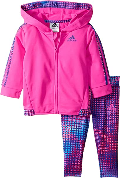 72cb222e3fdb adidas Kids Baby Girl s Colors Ignite Tricot Set (Infant) Shock Pink 12
