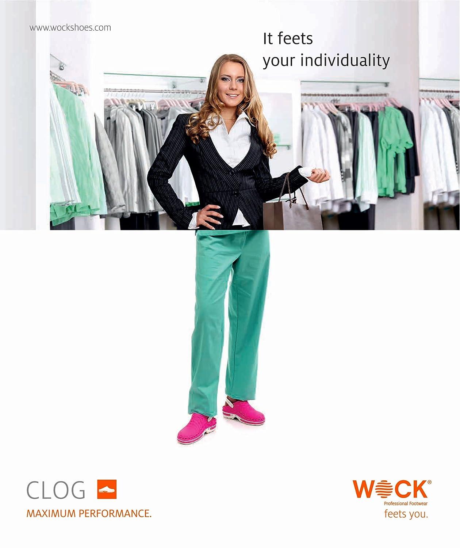 Clog - Calzatura professionale WOCK - Sterilizzabile; Antistatica; Antiscivolo; Antiscivolo; Antiscivolo; AntiurtoBianco/Fuchsia 73a7bb