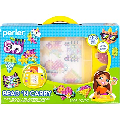 Perler Beads Bead 'n' Carry Craft Activity Kit, 1204 pcs: Arts, Crafts & Sewing