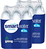 Glaceau Smartwater Vapor Distilled Water 33.8 Ounce, 2Units (Pack of 6)