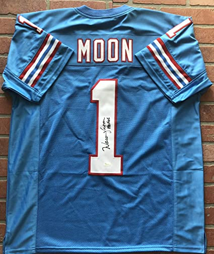 Image Unavailable. Image not available for. Color  Warren Moon autographed  signed inscribed jersey NFL Houston Oilers ... f7a245a23