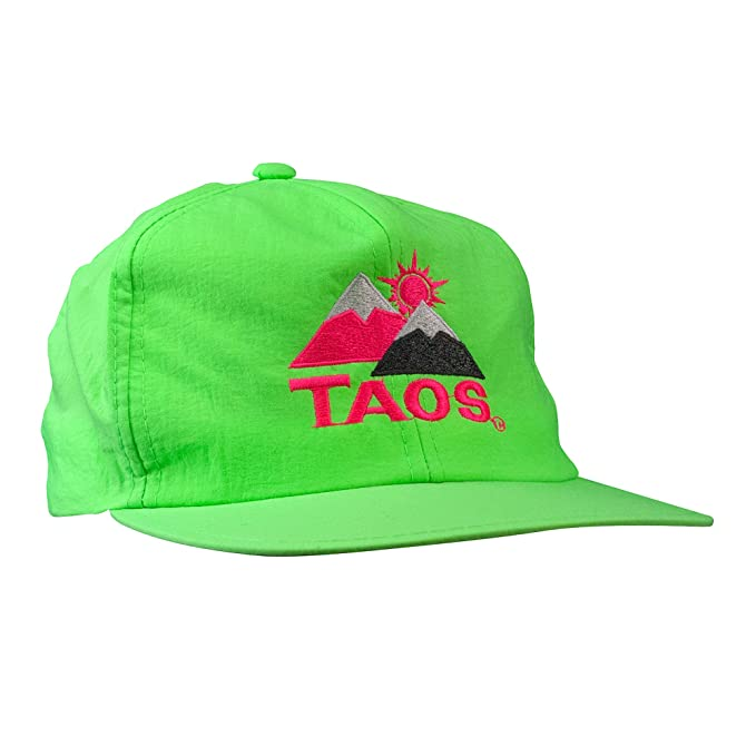 9b79ede5c22 Image Unavailable. Image not available for. Color  Vintage Ski Resort Hat -  Taos Snapback Neon Green