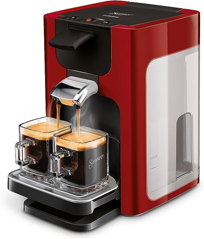 Senseo Quadrante HD7865/80 - Cafetera (Independiente, Máquina de café en cápsulas, 1,2 L, Dosis de café, Rojo): Amazon.es: Hogar