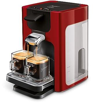 Senseo Quadrante HD7865/80 - Cafetera (Independiente, Máquina de café en cápsulas, 1,2 L, Granos de café, Dosis de café, Rojo): Amazon.es: Hogar