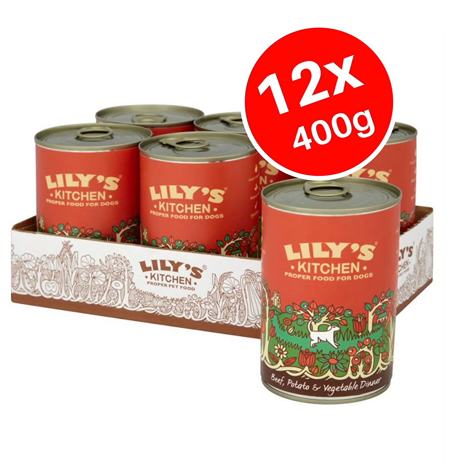Lily's Kitchen Beef Potato & Vegetable Complete Wet Food for Dogs, 12 x 400g