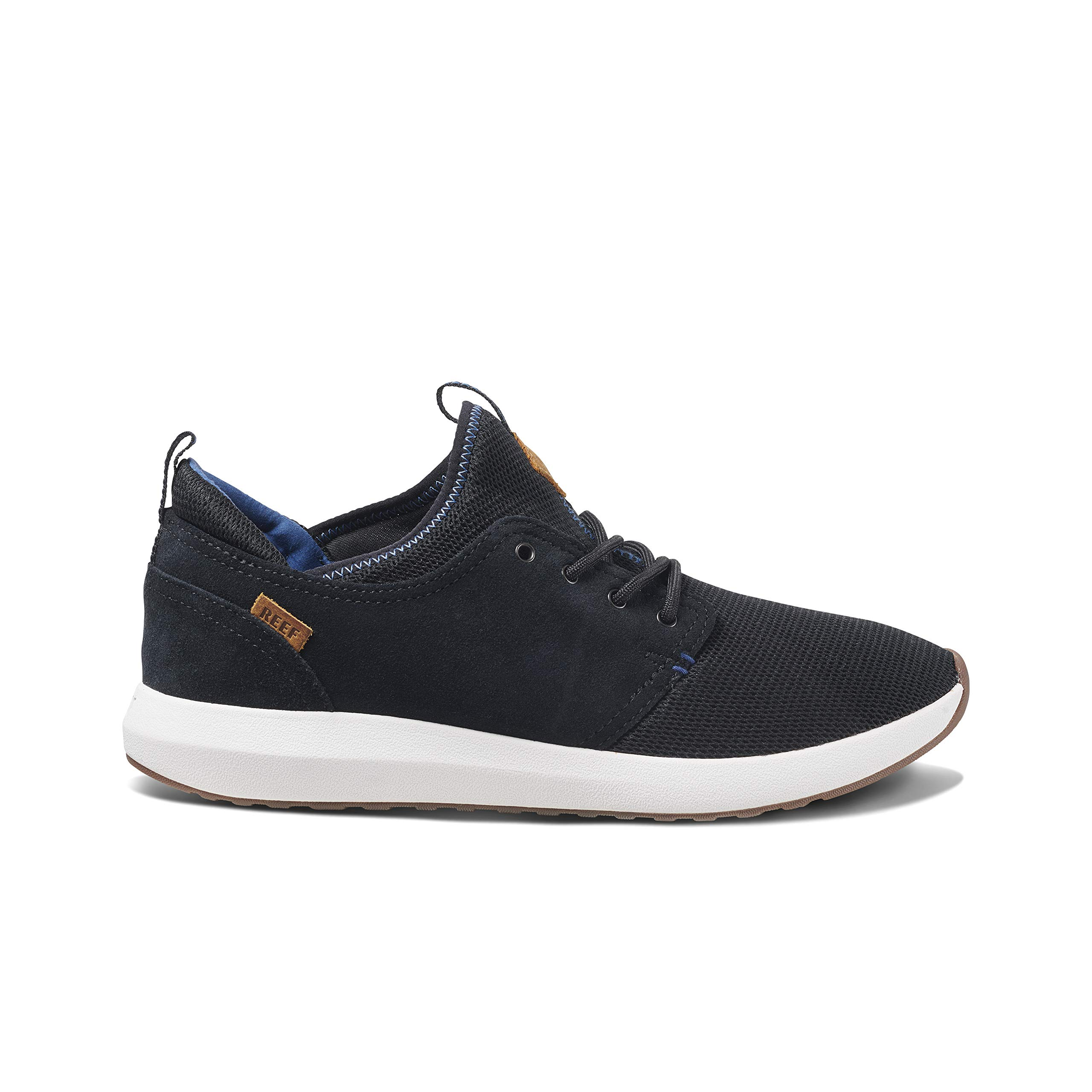 REEF Men's Cruiser Skate Shoe, Black/White/Aqua, 9