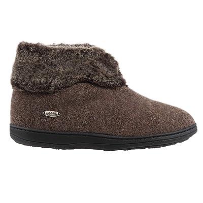 Amazon.com | Acorn Women's Faux Chinchilla Bootie Ii Slipper | Ankle & Bootie