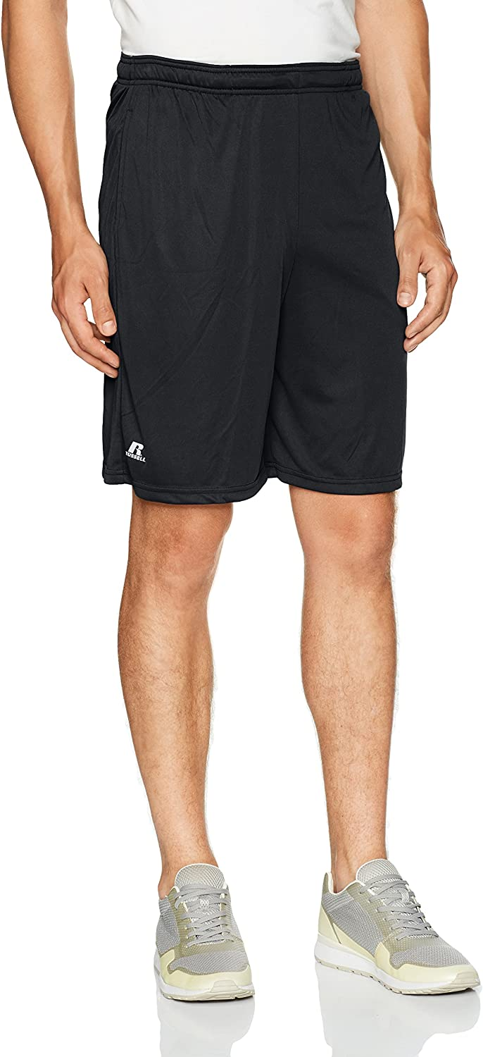 Russell Athletic Men's Standard Dri-Power Performance Short with Pockets: Clothing
