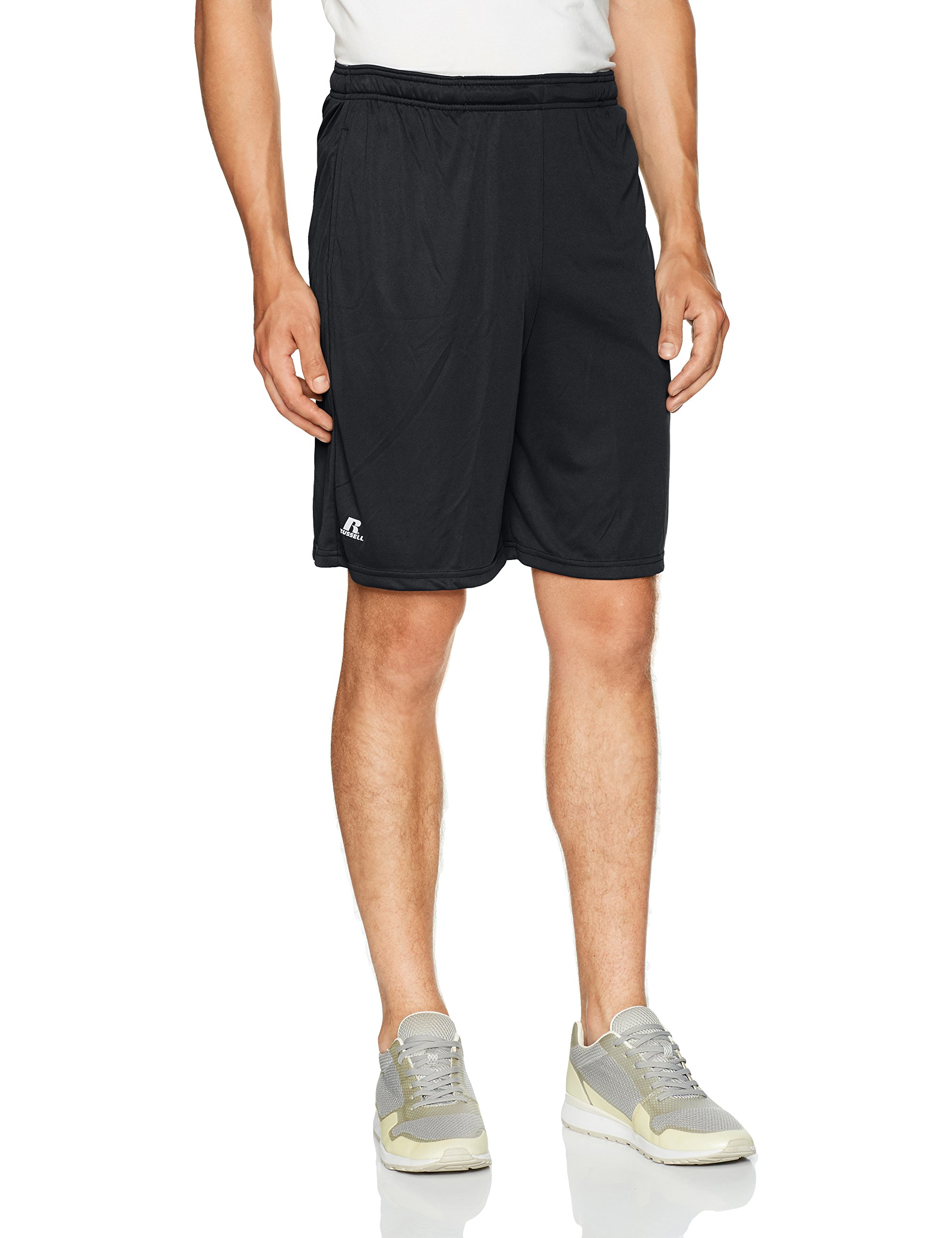 Russell Athletic Men's Dri-Power Performance Short with Pockets, Black, L