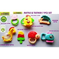 TOY-STATION Baby Teether & Rattles Pack [ 7Pcs] New