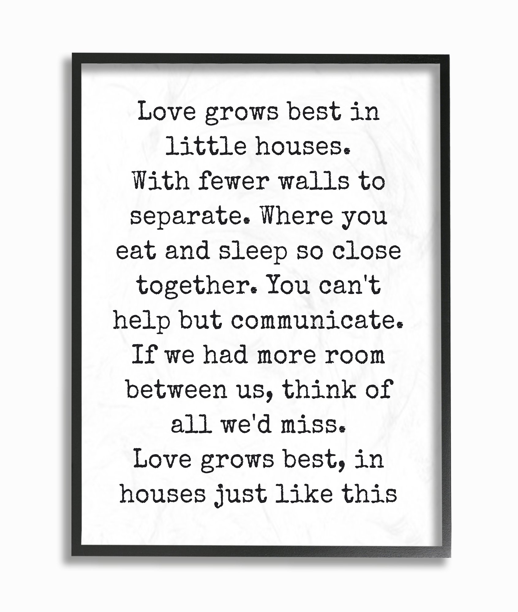 The Stupell Home Decor Collection Love Grows Best in Little Houses Framed Giclee Texturized Art