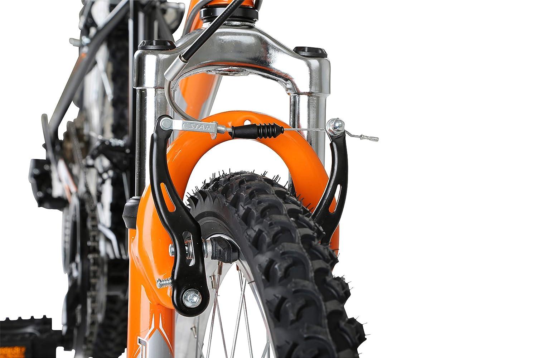 24 inch Wheel Flite Boy Ravine Bike Black//Orange