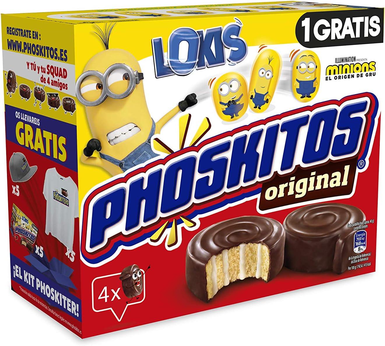 Phoskitos Miniphoskitos - Producto de pastelería - Pack de 4 unidades x 40 g
