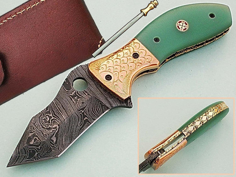 Handgefertigt 18 cm Awesome Klapp Tasche Messer Made mit echten Damaskus Stahl mit G10 Material Griff und Gravur Kropf  (bdm-82) (Legal zu tragen) B01M9IMRFD | Schenken Sie Ihrem Kind eine glückliche Kindheit