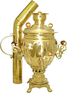 Steel Coal & Wood Samovar Camp Stove Tea Kettle 3L with pipe Original Samovar from Russia