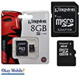 Original Kingston microSD Memory Card 8 GB for LG Electronics K8 – 8 GB