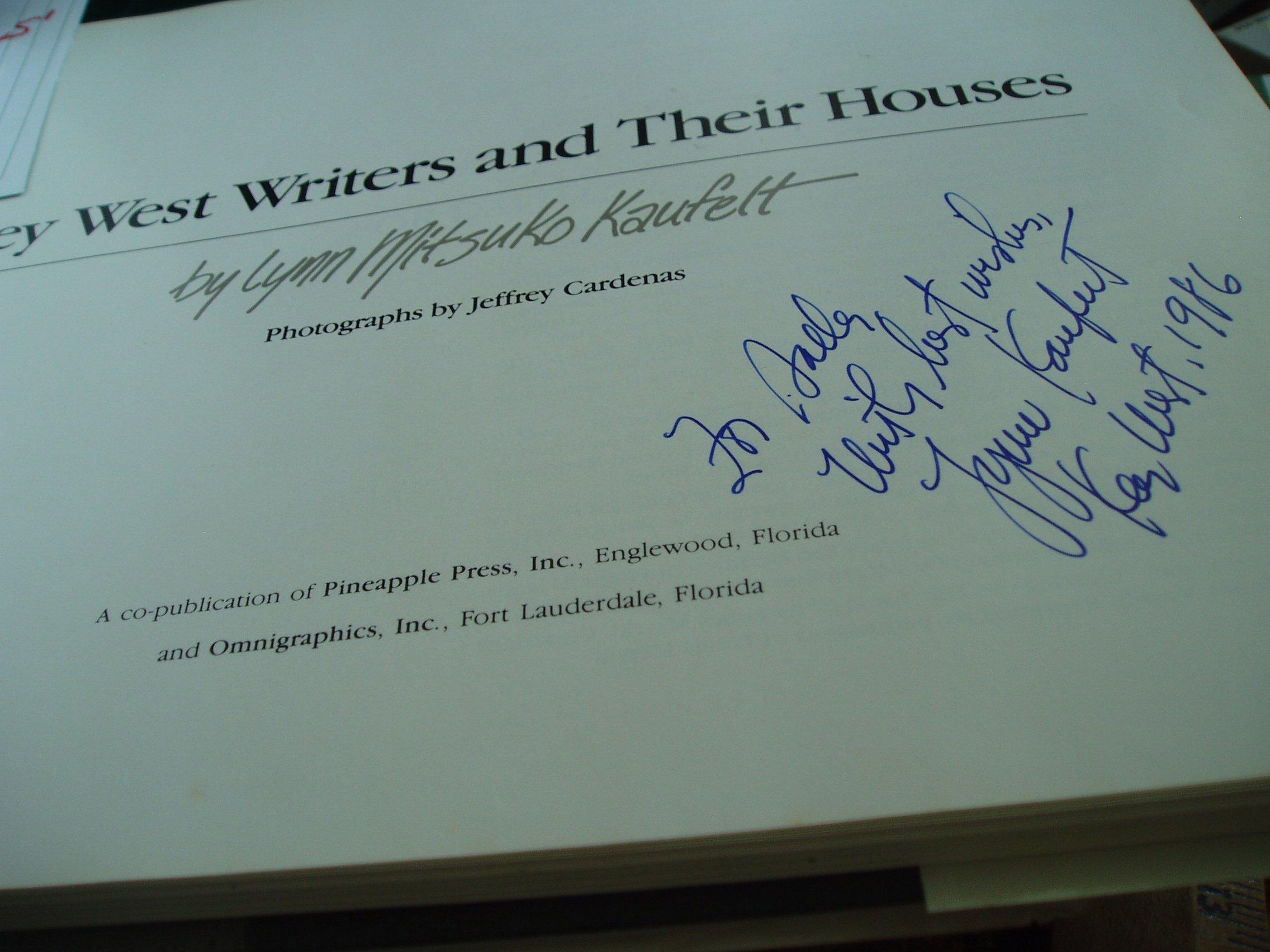 Key West Writers and Their Houses: Lynn Mitsuko Kaufelt ...
