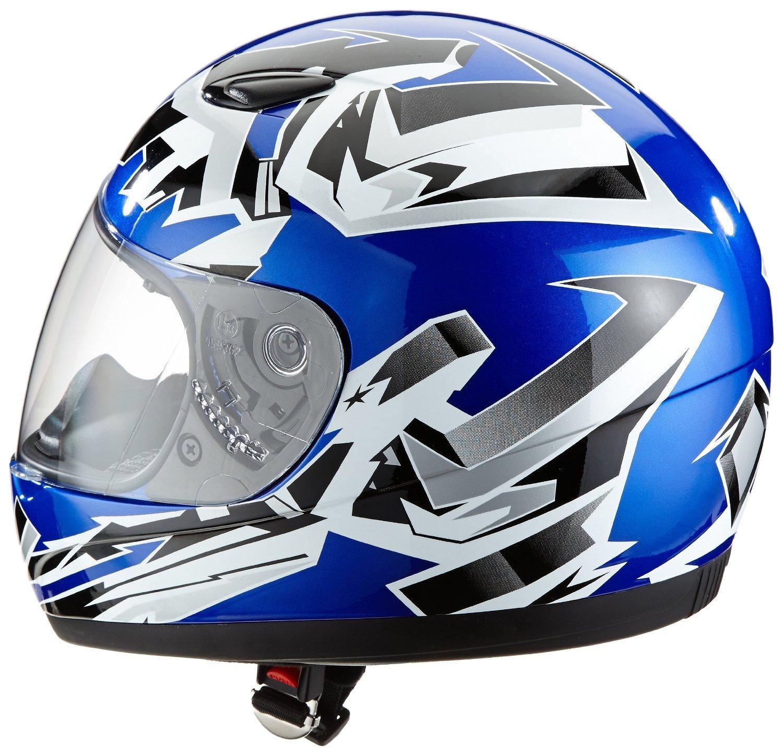 Protectwear SA03 BL XXS Kinder Motorradhelm Integralhelm Größe XXS Youth M Blau Silber Amazon Auto
