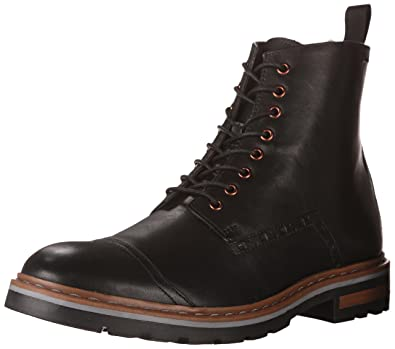 Clarks Mens Dargo Rise Black Leather Boot