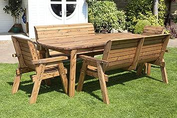 Amazon De Hgg 8 Personen Garten Tisch Bank Und Stuhle Esstisch