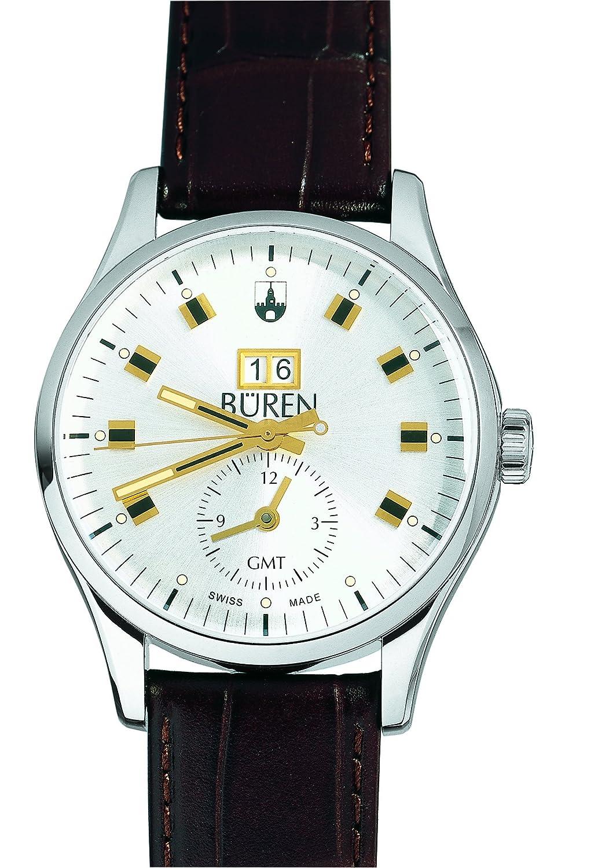BÜREN Grande Date GMT - bicolor - Schweizer Herrenuhr