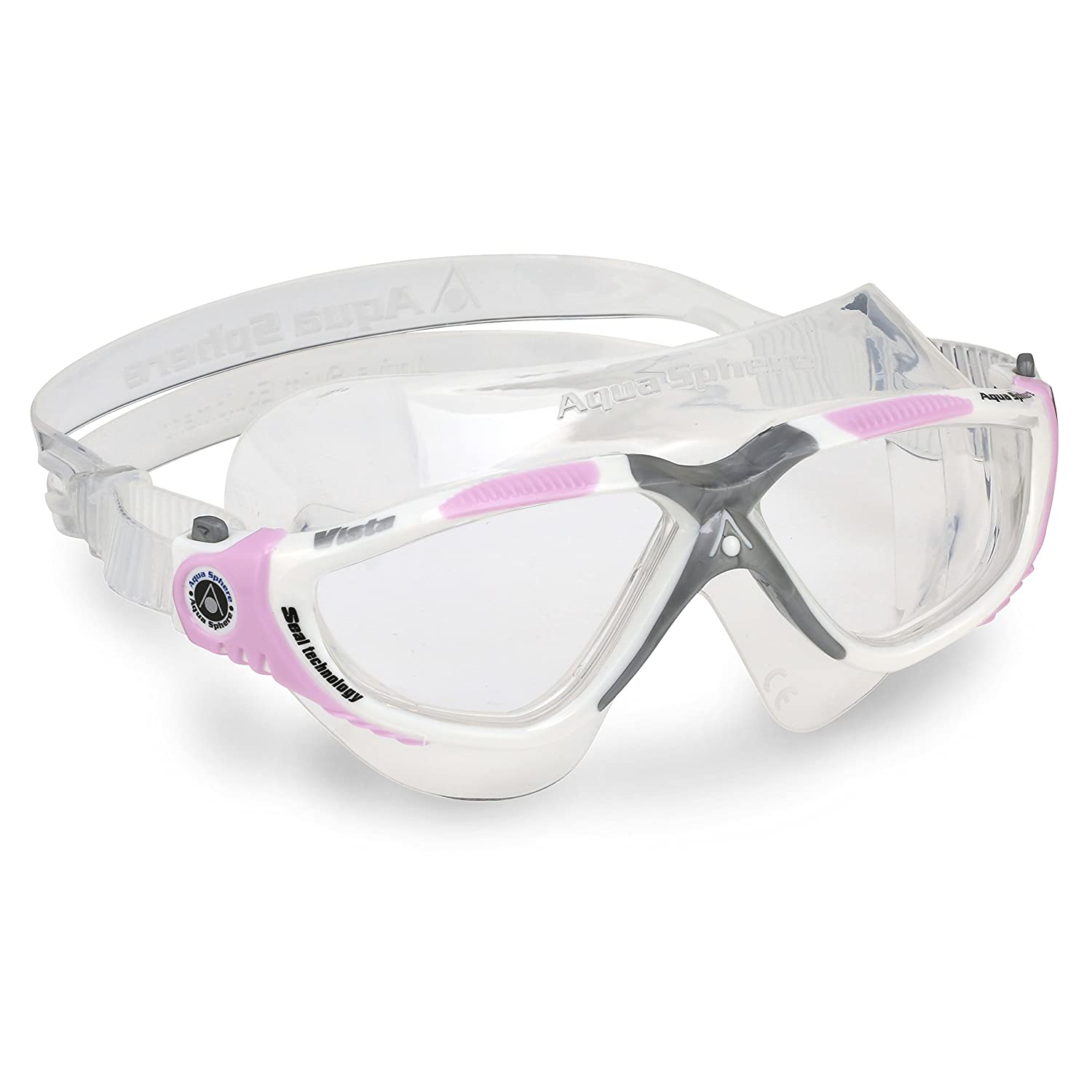 Pink One Size Aqua Sphere Ladies Womens Vista Clear Lens Swimming Mask