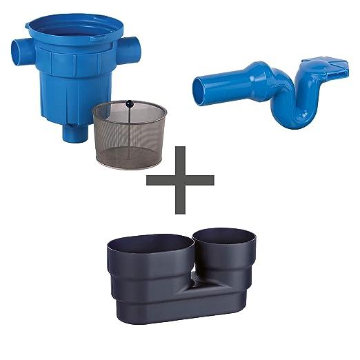 Filtro de agua de lluvia zisterne filtro 3P Juego de RVF con ...