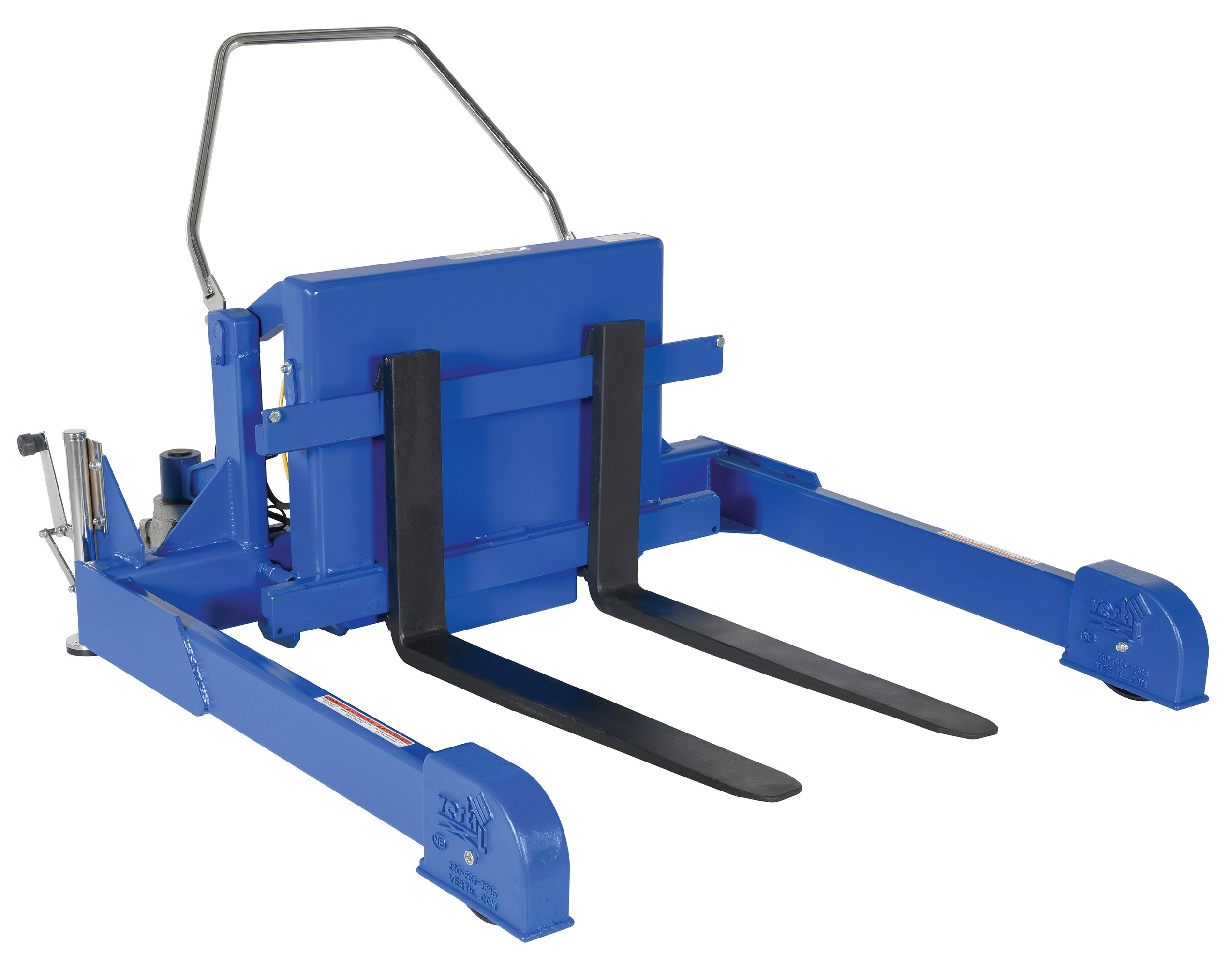 Vestil TMS-40-DC DC Power Tilt Master Straddle, Overall W x L x H (in.) 57-1/4 x 72-13/16 x 29-1/4, Folding Handle Length (in.) 20, 4'' Fork Width, 4000 lbs Capacity
