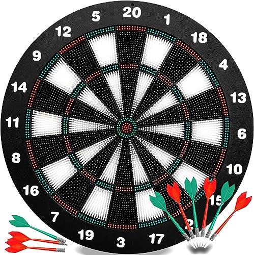 INNOCHEER Safety Darts and Kids Dart Board Set