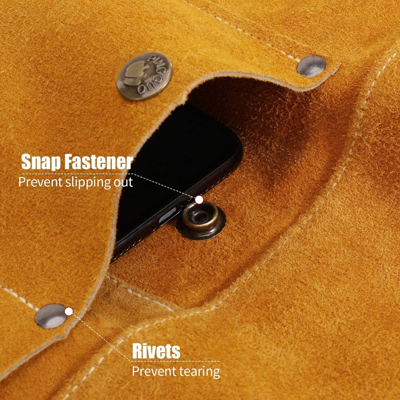 Apron Leather Welding Blacksmith Resistant Bib Protective Welder Clothing Shop
