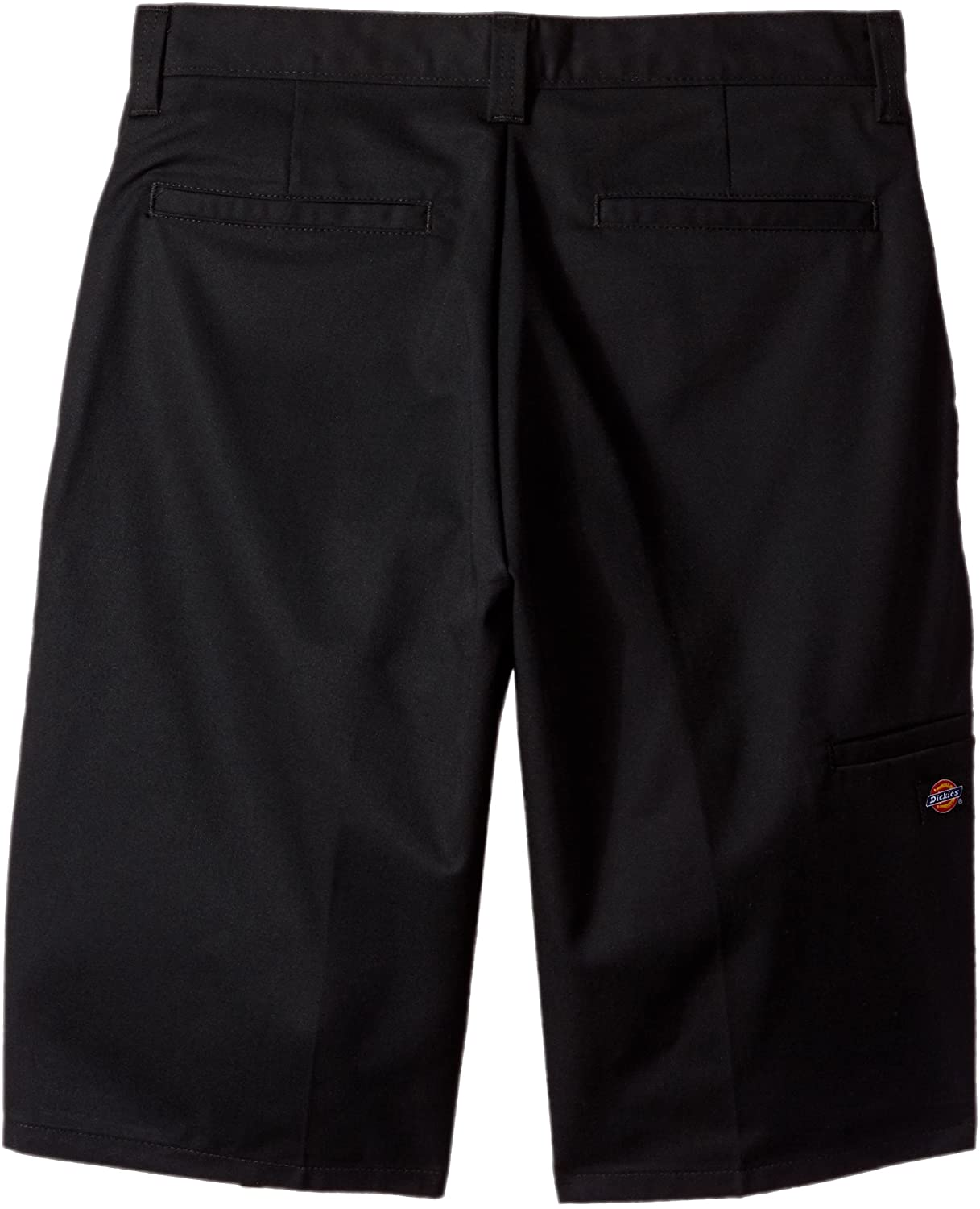 Black Dickies Occupational Workwear LR642BK Polyester//Cotton Relaxed Fit Mens Premium Industrial Multi-Use Pocket Short with Hidden Snap Closure