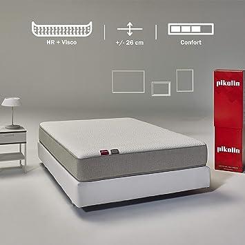Pikolin Cala, colchón viscoelástico y espuma HR, 135x190, firmeza ...