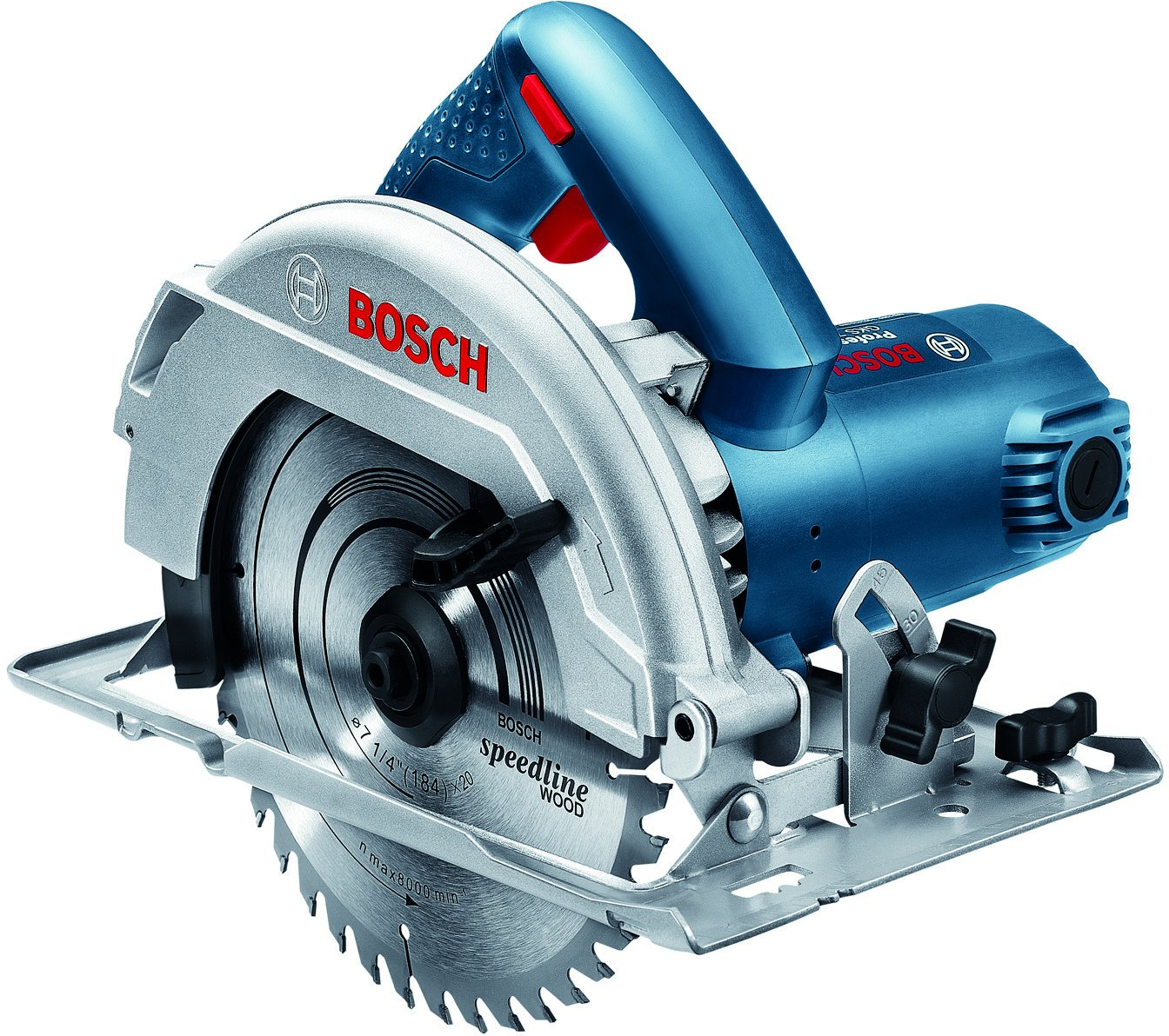 Bosch GKS 7000 Professional Hand-Held Circular Saw Compact and light weight on top of the standard / 220 Volt 60 Hz , Plug Type C ( Europe Shape )