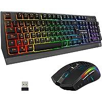THE G-LAB Combo Tungsten – Pack de Teclado y Ratón Gaming Inalámbrico Retroiluminado - Teclado Gaming Inalámbrico Layout…