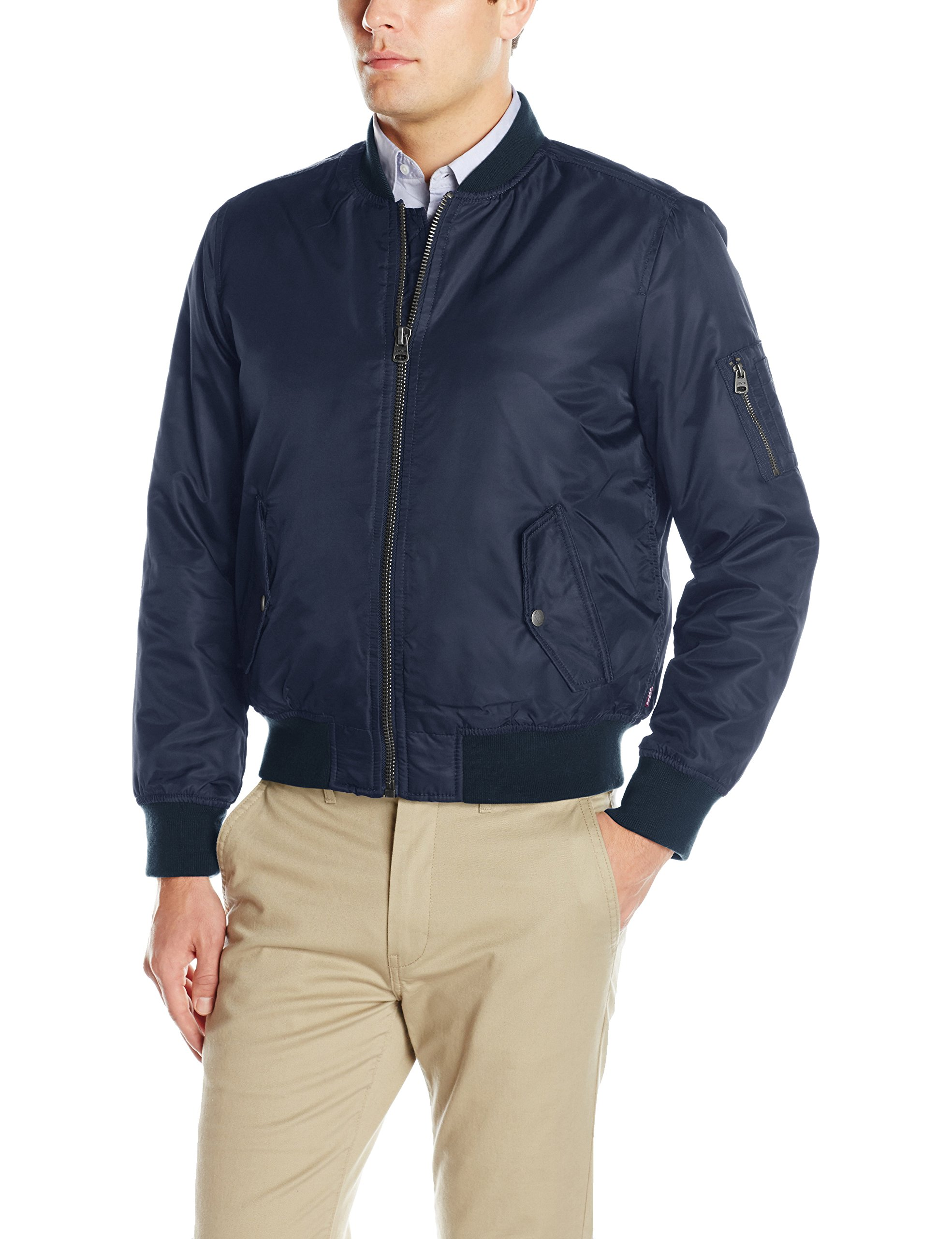 Levi's Men's Ma-1 Flight Jacket, Navy, Medium