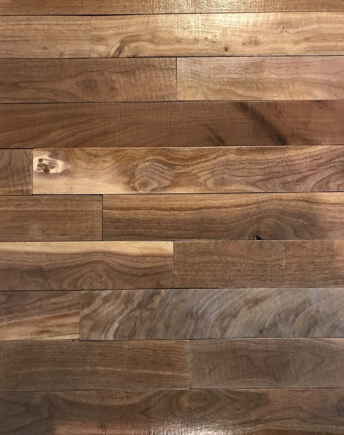 macLEDs PLANK-20SF-walnut Hardwood Wall Planks 20 Sq.'. Distressed Natural Wood Wall Planks